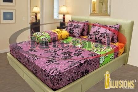 sprei illusions motif brownies