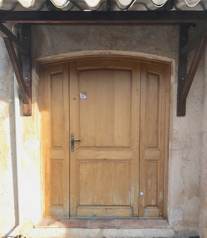Como pintar una puerta de color mi puerta rosa y post - Como pintar una puerta ...
