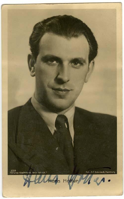 Autographs-original Reasonable Hans Hotter Pfitzner Palestrina Opera Singer Vintage Photo Signed Wide Selection; Classical, Opera & Ballet