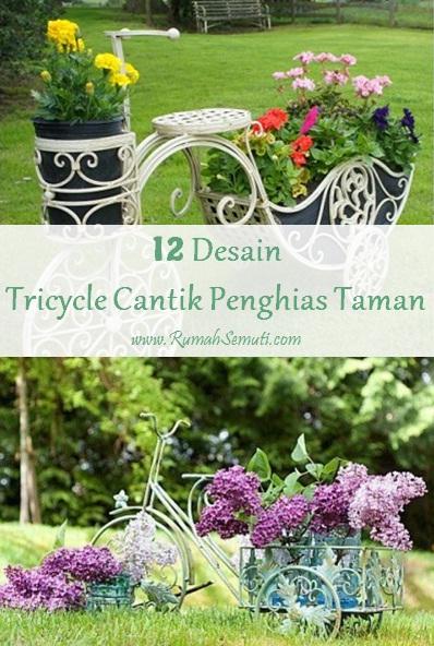 Tricycle Cantik Penghias Taman