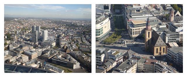 Frankfurt vista do alto da Main Tower