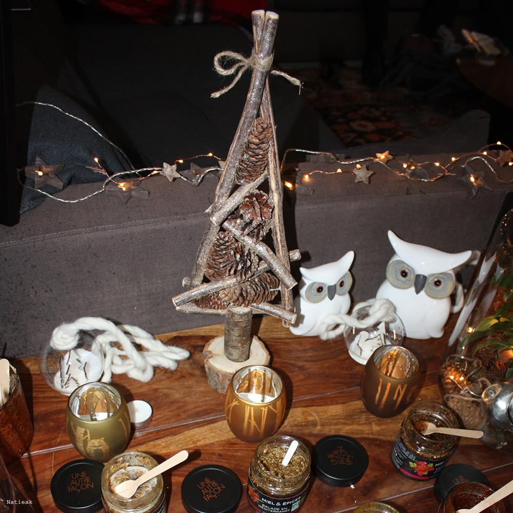 décoration de Noël et recette miel et épices