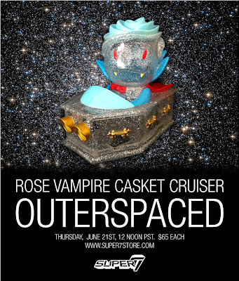Super7 Outerspaced Rose Vampire Casket Cruiser by Josh Herbolsheimer
