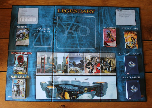 Marvel Legendary - game board