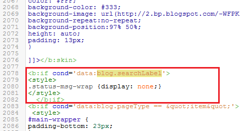 blogger-label-message-removal