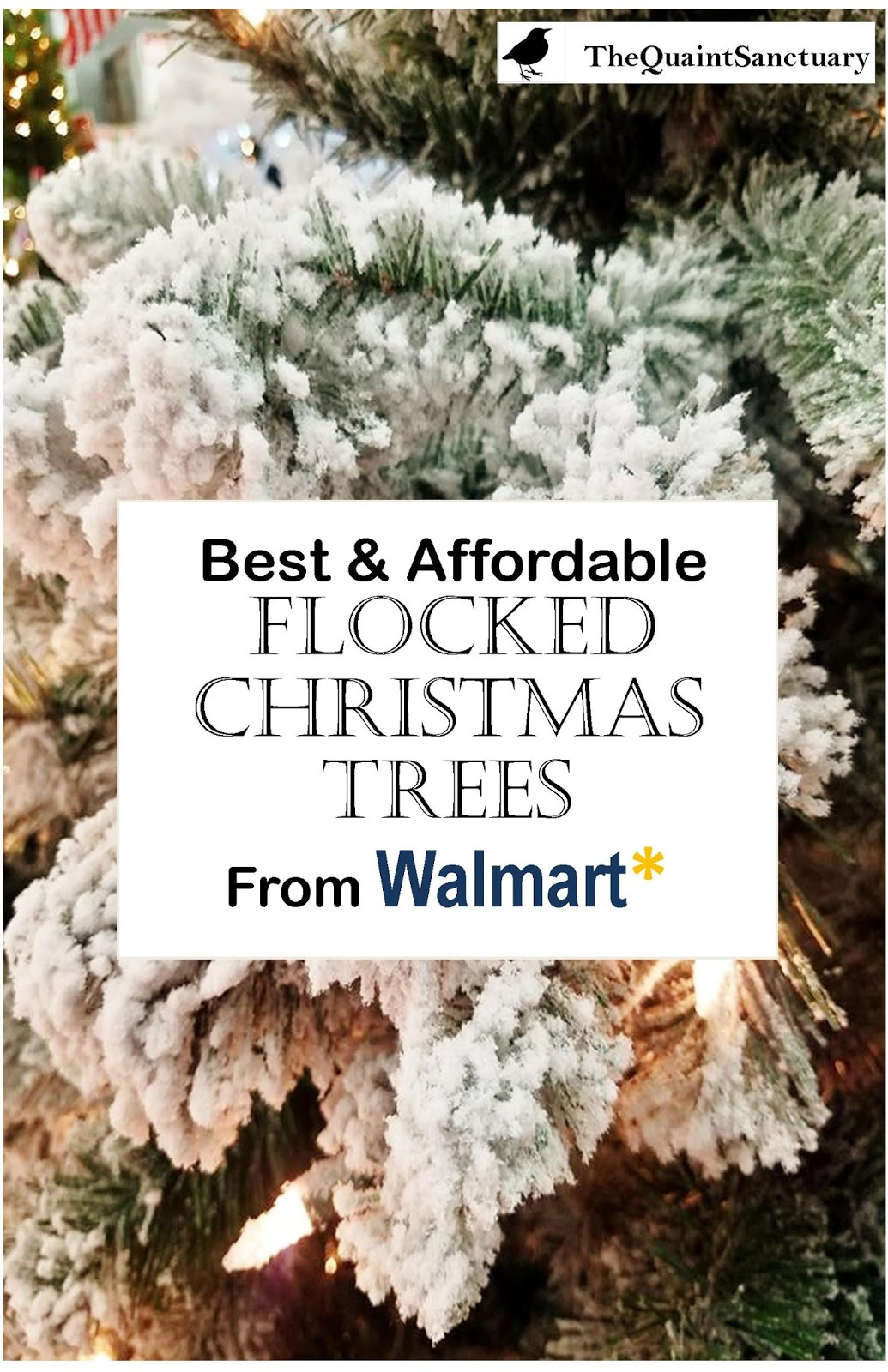 The Quaint Sanctuary: { Best & Affordable Flocked Christmas Trees ...
