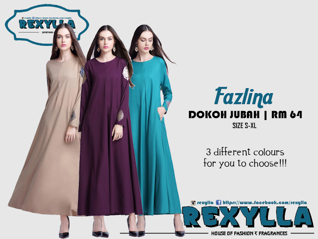 rexylla, dokoh jubah, fazlina collection