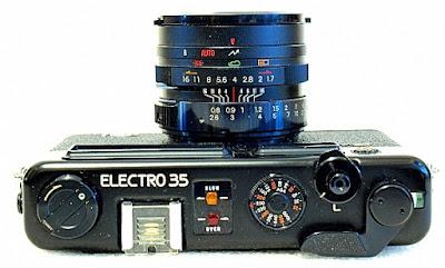 Yashica Electro 35 GTN, Top