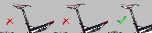 наклон седла велосипеда