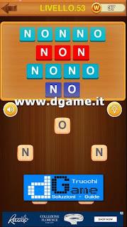 fai delle  parole in italiano soluzione livello 53