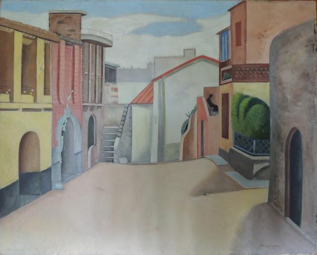 Juan Navarro Ramón paisaje mediterraneo pintura posguerra