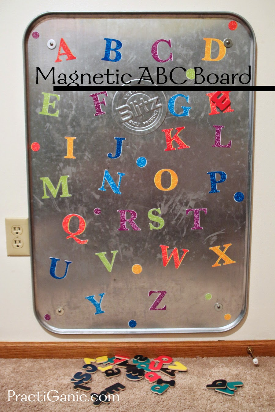 DIY Magnetic ABC Board