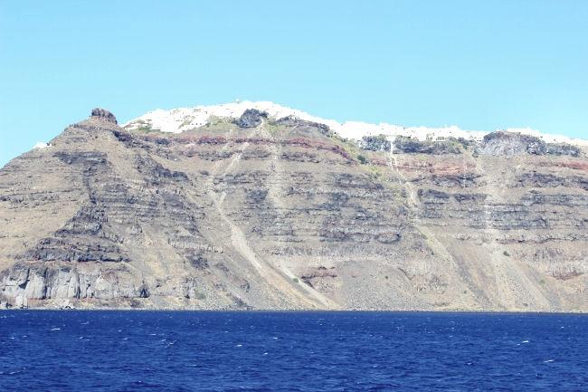 Santorini volcanic island