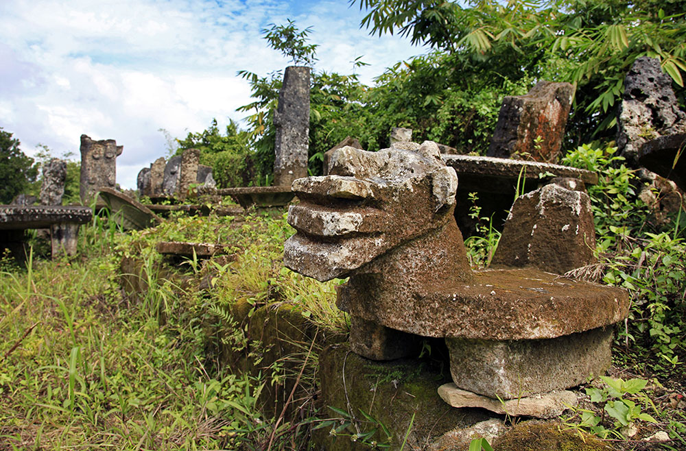 Megalithic Menhirs & Stone Table in Gomo, Nias Island