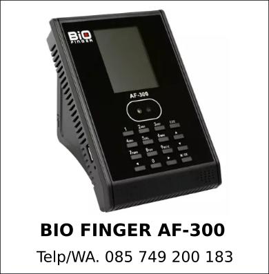 Agen Resmi Mesin Fingerprint Bio Finger AF-300 Murah