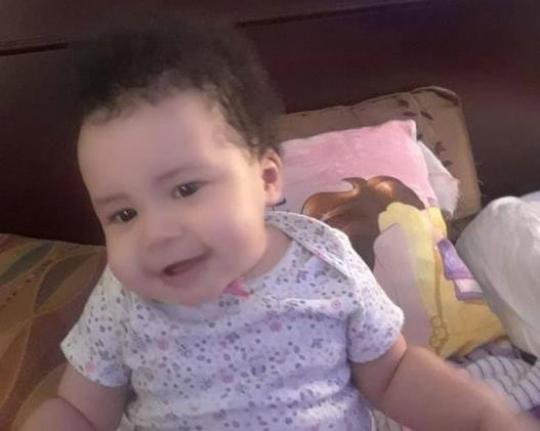 La bebé Astrid Montero Gómez