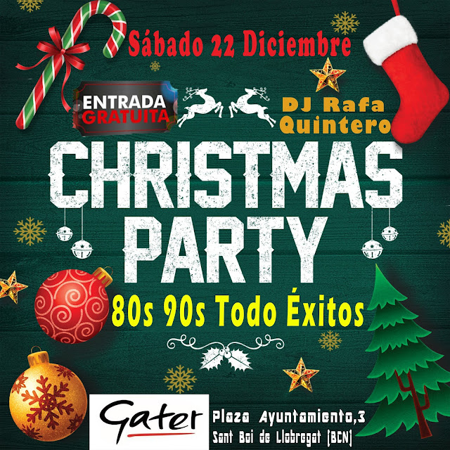 Flyer Christmas Party 80s 90s Todo Éxitos