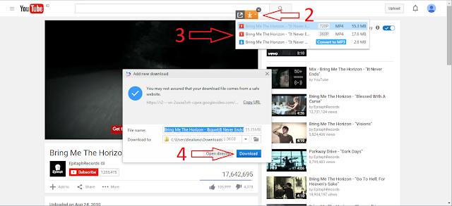 cara download video atau mp3 di youtube via baidu