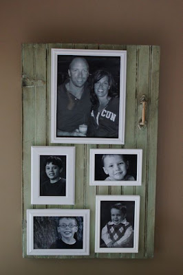 The Little Green Bean Wall Picture Frame Collage Finished