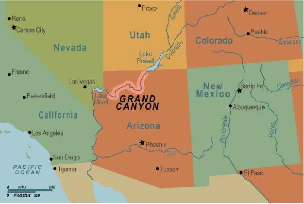 Grand Canyon Arizona Map Compressportnederland