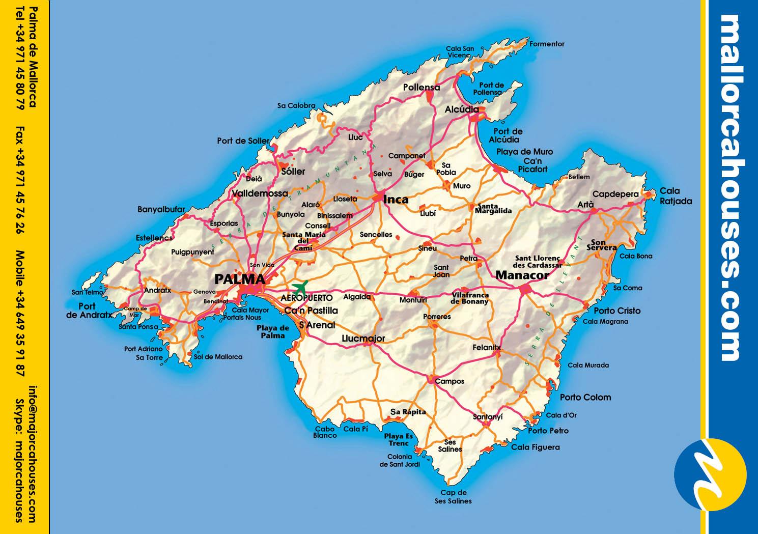 Mapas De Palma Espanha Mapasblog