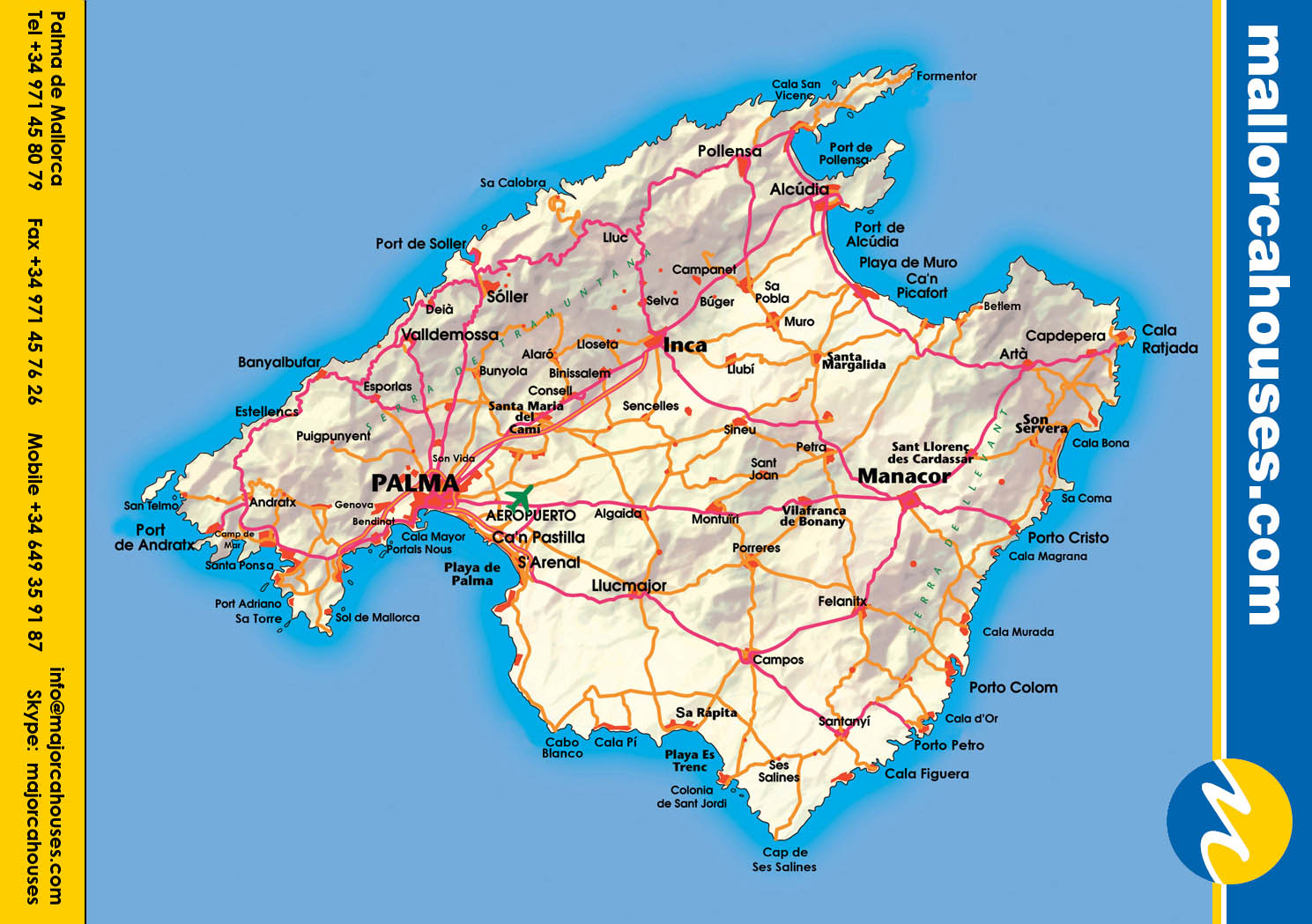mapa de palma de maiorca Mapas de Palma   Espanha | MapasBlog mapa de palma de maiorca