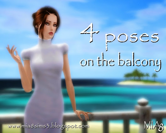 4 Poses on the balcony by Mia8