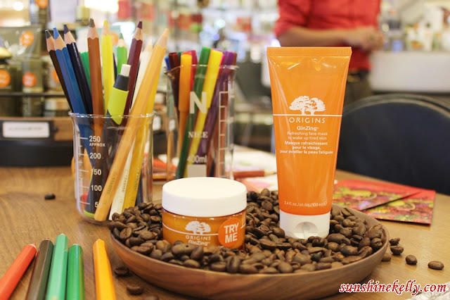 Origins Never Stop Discovering, origins mid valley, origins malaysia, origins best mask, ginzing refreshing, charcoal mask, out of trouble 10 mins mask, overnight mask, origins new concept store