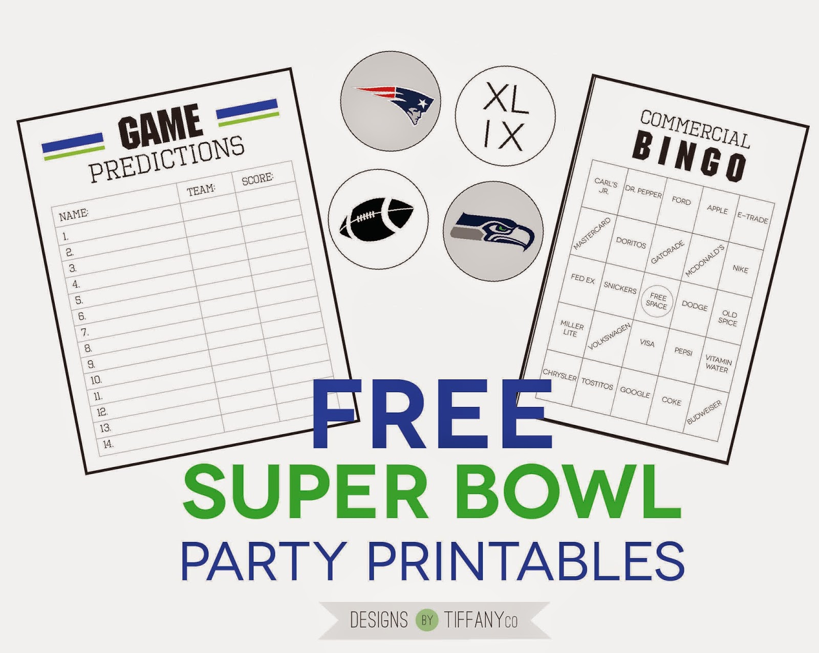 Freebies Super Bowl Party Printables