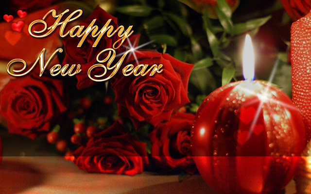 Happy New Year Rose Image