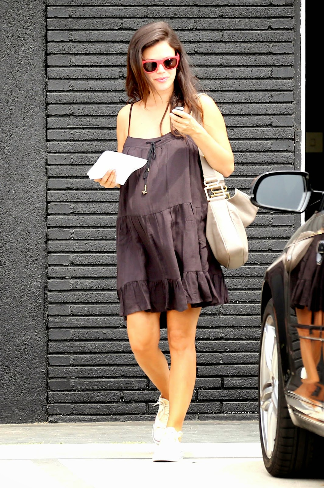 Rachel Bilson shows off chic maternity style out and about in West Hollywood