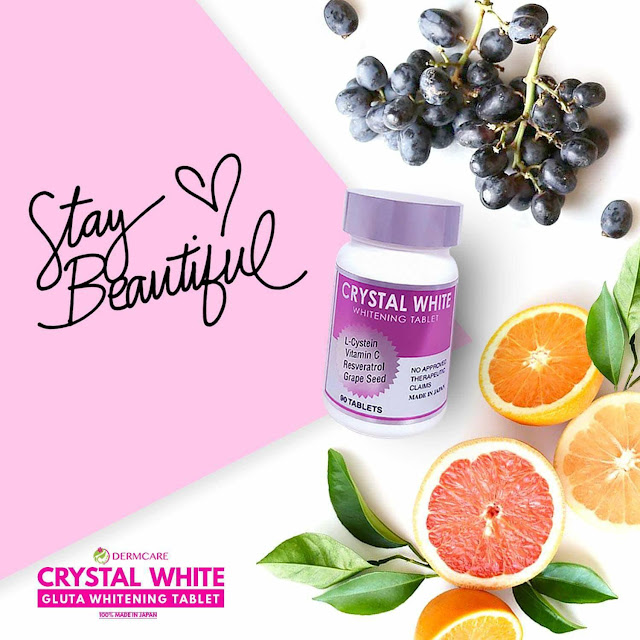 Stay beautiful with Crystal White whitening tablet
