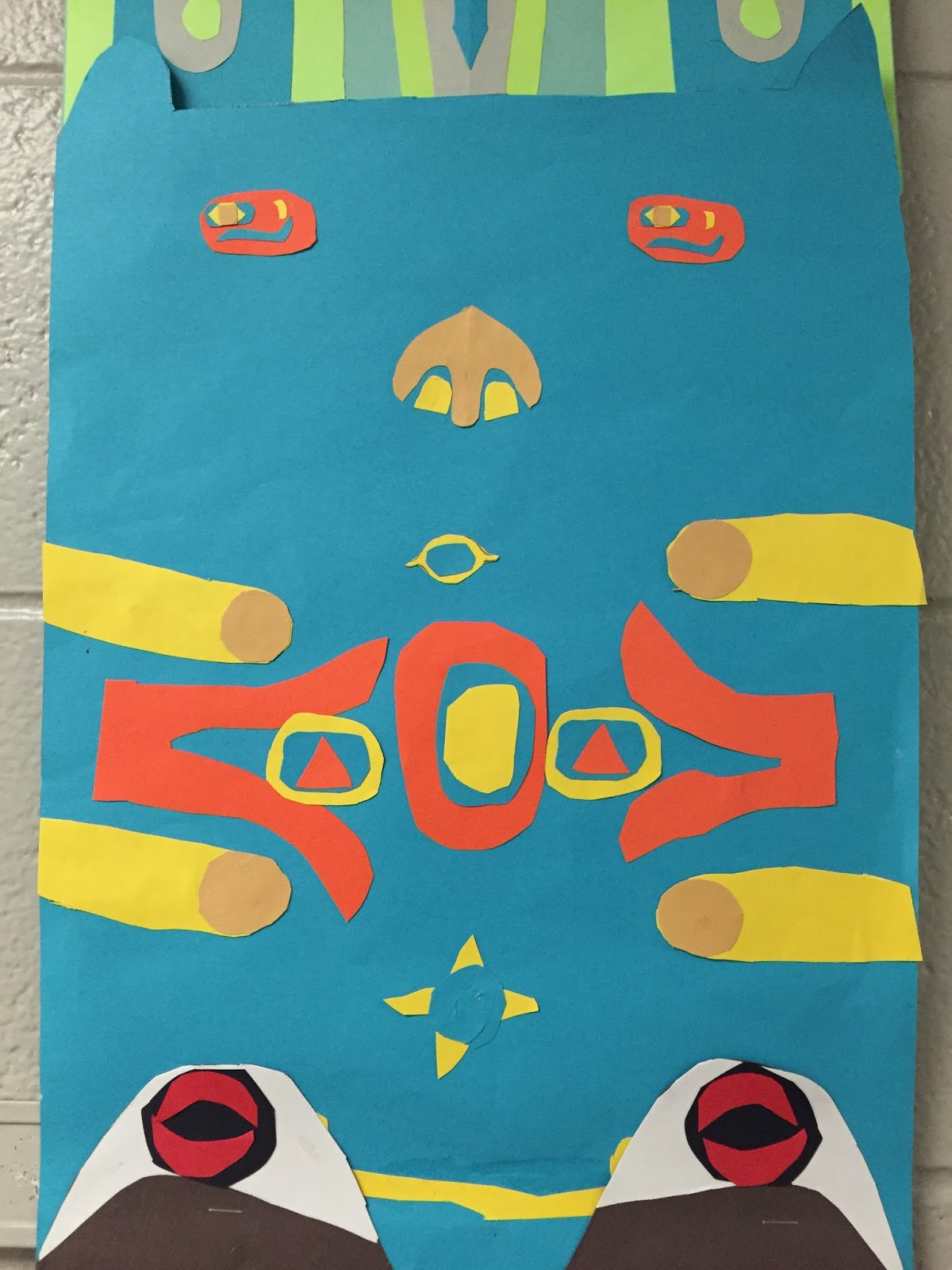 Thomas Elementary Art Totem Poles By 4th Grade