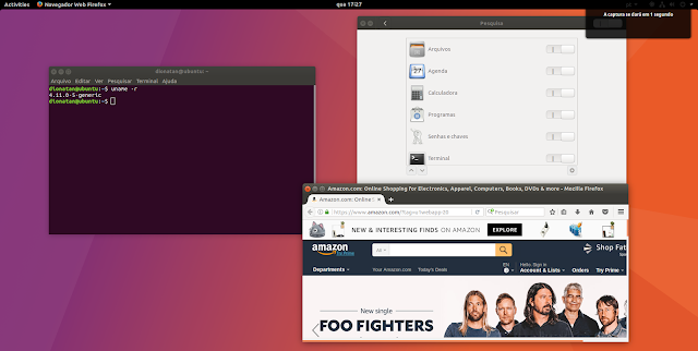 Gnome no Ubuntu 17.10