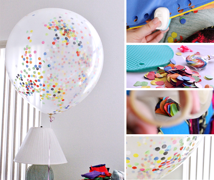 "Punch out some rainbow tissue paper sheets and fill a 32"" clear balloon for an instant decoration that's sure to wow your guests at any party! #YourTaxCash #AD"