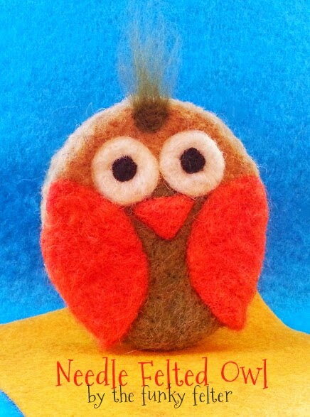 how to needle felt a fall owl using cookie cutters
