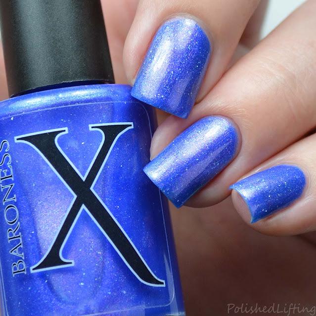 royal blue nail polish with shimmer