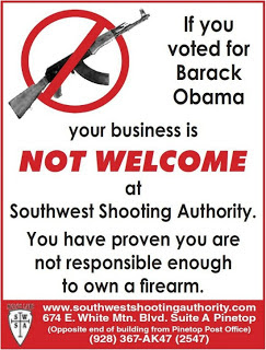 gunshop owner warns obama voters