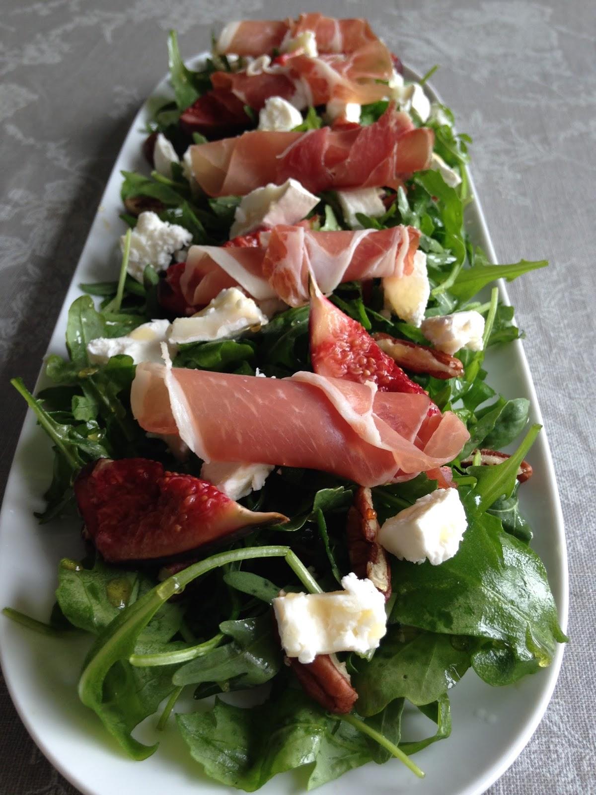 Fig & Goats Cheese Salad with Parma Ham   Maison Jen