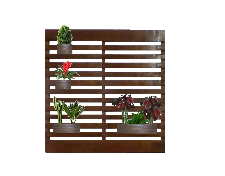 Artg Criando Sonho Jardim Vertical Floreira Com 4 Cachep S De  -> Floreira Vertical