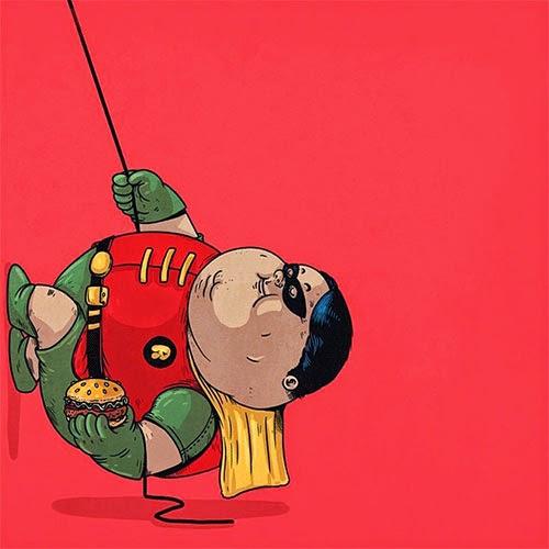 Fat Super Hero Gemuk - DC Fat Robin