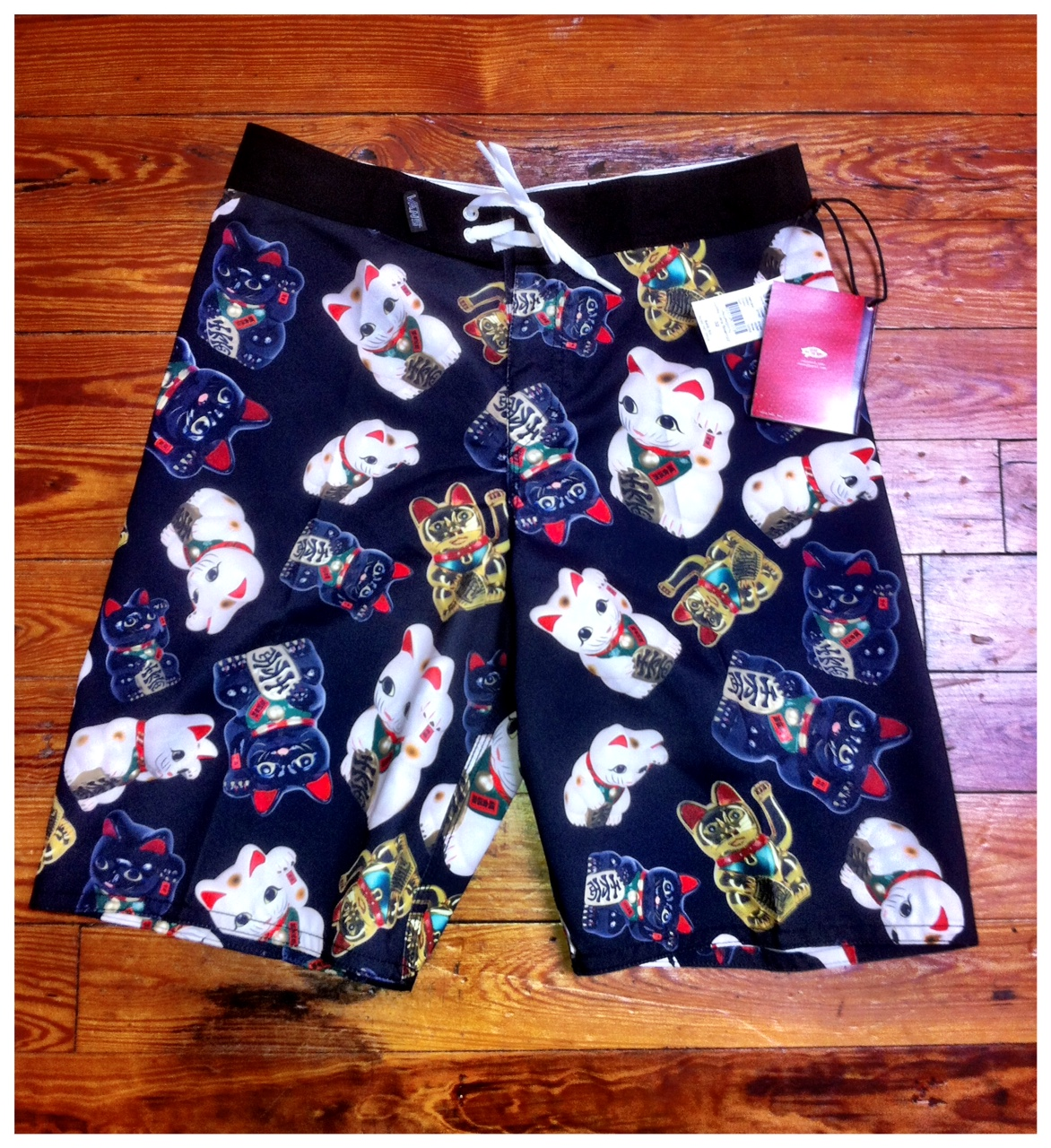 76ac63b903 NEW VANS LUCKY CAT BOARD SHORTS. Posted by Relief Skate Supply ...