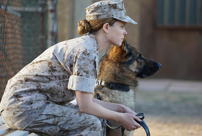 Megan Leavey (Kate Mara) and her dog Rex. (Bleecker Street Media)