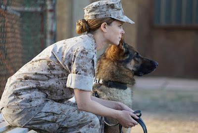 Megan Leavey (Kate Mara) and her dog Rex. (Bleecker Street Media)
