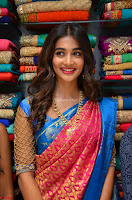 Puja Hegde looks stunning in Red saree at launch of Anutex shopping mall ~ Celebrities Galleries 057.JPG