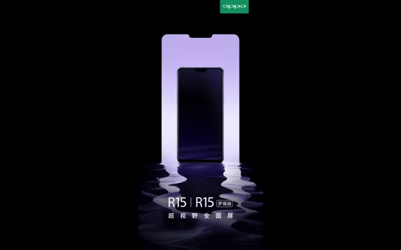 OPPO teases R15 and R15 Plus with an iPhone X-like notch