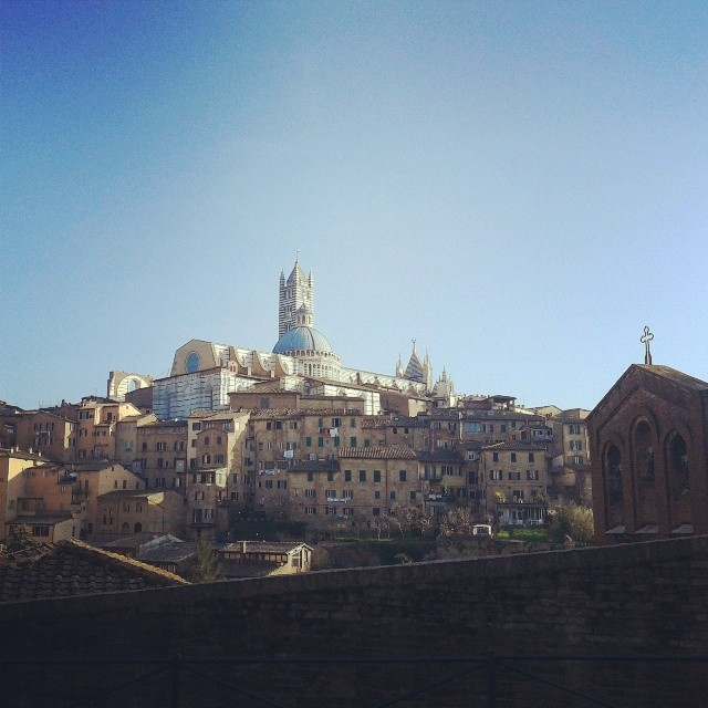 A panorama view of Siena with the cathedral