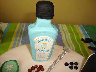 Botella Bombay Saphire fondant