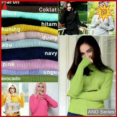 AND081 Baju Atasan Wanita Rajut Roundhand Secker BMGShop