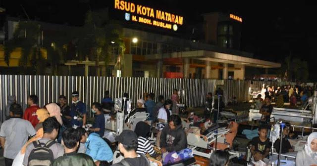BNPB: Sementara, 89 Orang Meninggal Akibat Gempa 7 SR di NTB